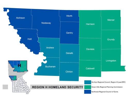New Region H Map